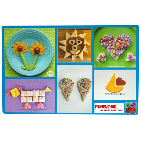 Funbites placemats set of 4 for Funbites