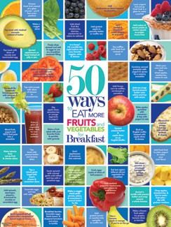 50 Ways to Eat More Fruits and Vegetables for Breakfast Poster