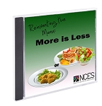 Reinventing the Menu: More is Less
