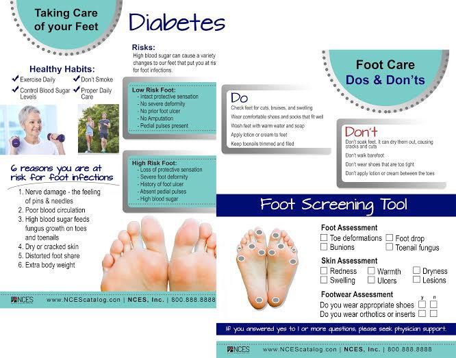 Nces Diabetes Foot Care Screening Tear Pad