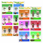 Drink Healthy Drink Light Poster Set