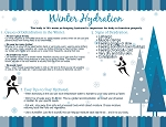 Winter Hydration Free Downloadable Handout