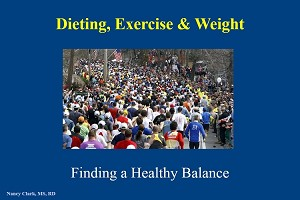 Nancy Clark's Dieting, Weight & Exercise PowerPoint Presentation