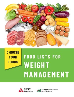 Updated! Choose your Foods: Food List for Weight Management