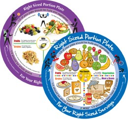 Right-Sized Portion Plate Combo Set
