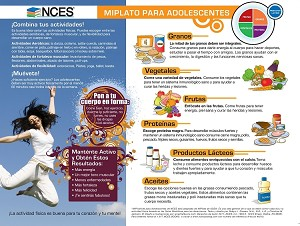 Spanish NCES Teen MyPlate Handout - Pkg of 25