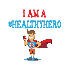 Healthy Hero's Sticker Template